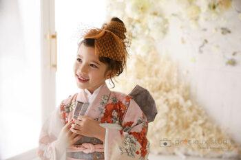 プレシュスタジオ七五三フォトギャラリー 7歳女の子ジルスチュアートの着物