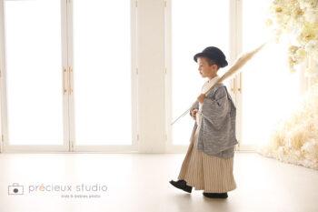 七五三フォトギャラリー 5歳男の子着物