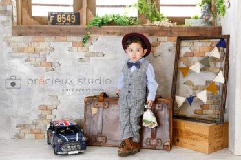 プレシュスタジオ撮影 男の子のお誕生日記念写真
