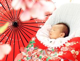 お宮参り・百日祝い記念写真