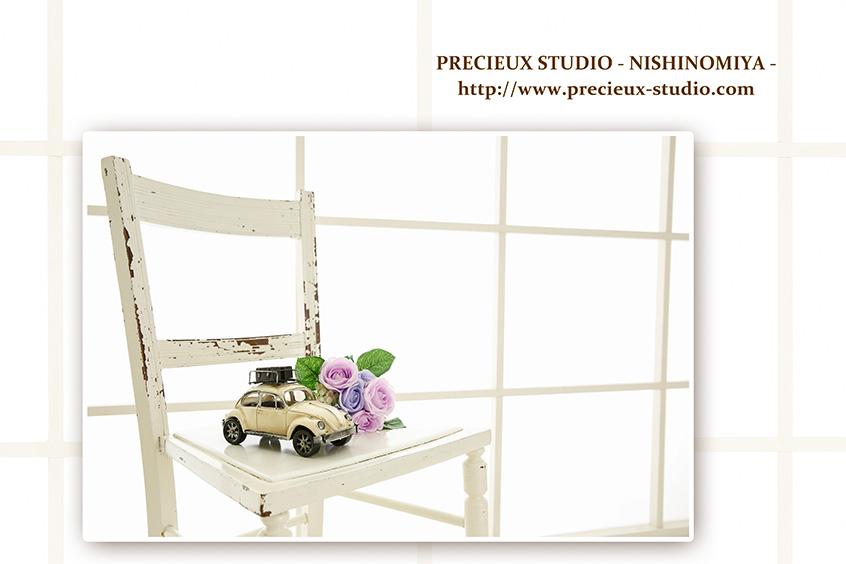 プレシュスタジオ西宮夙川店の撮影セット内装