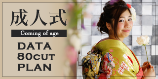 成人式 coming of age DATA 80CUT PLAN