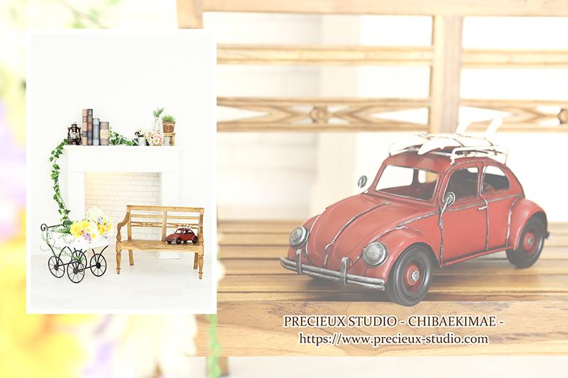 プレシュスタジオ千葉駅前店の撮影セット内装 クラシックなインテリア
