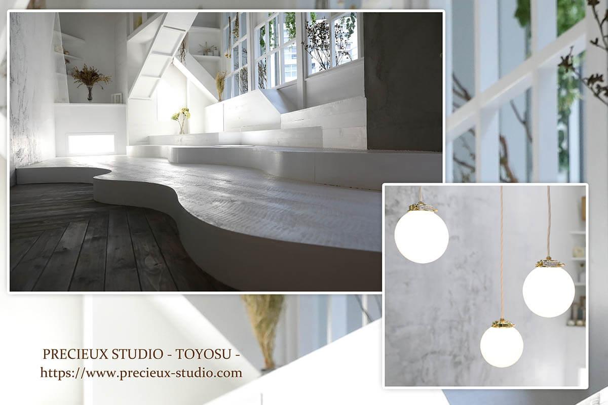 プレシュスタジオ豊洲店の撮影セット内装 シャビーシックなお部屋