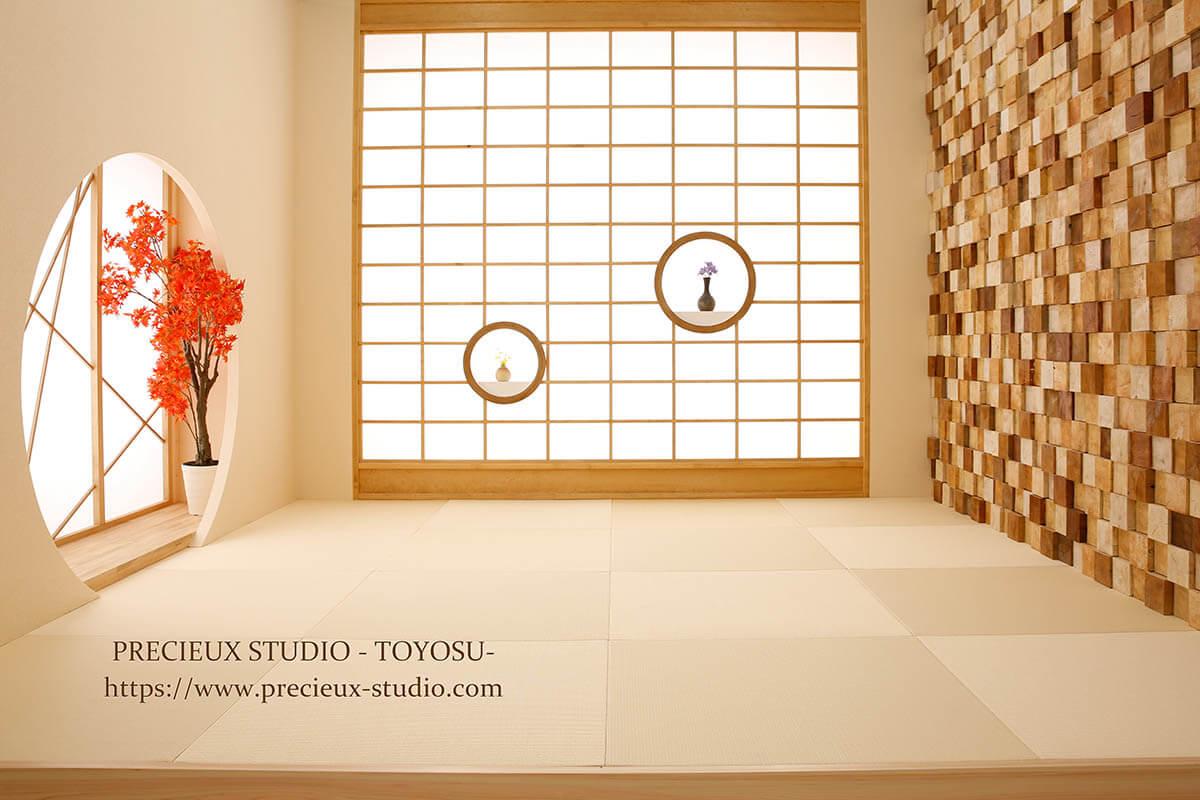 プレシュスタジオ豊洲店の撮影セット内装 和室