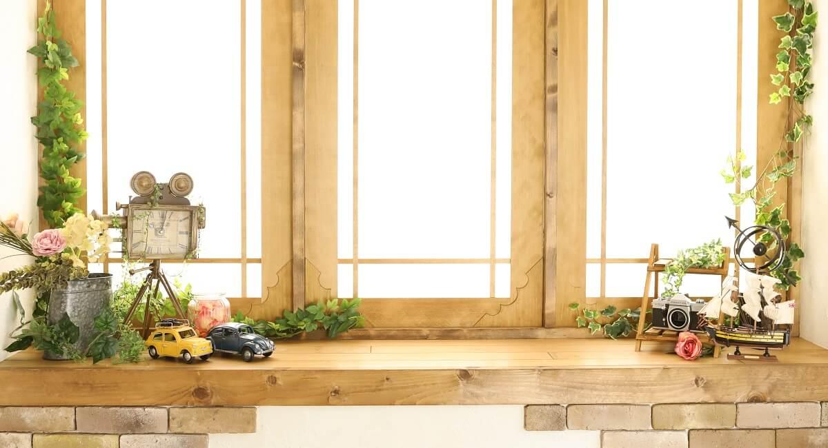 一軒家貸切型こども写真館プレシュスタジオ千葉駅前店の撮影セット