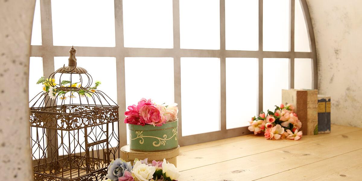 一軒家貸切型こども写真館プレシュスタジオ世田谷本店の撮影セット