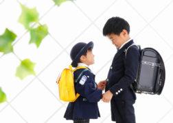 兄弟で入学・入園記念写真