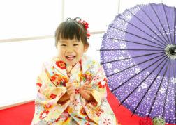 七五三記念撮影 3歳の女の子