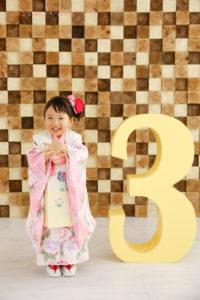 3歳の七五三記念写真 被布