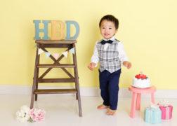 2歳の男の子のお誕生日写真 プレシュスタジオ西宮夙川店撮影