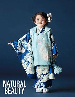 七五三レンタル女子被布着物 NATURAL BEAUTY 水色に青