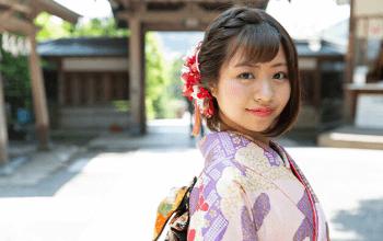 プレシュスタジオ鎌倉鶴岡八幡宮前店限定 神社出張撮影 成人式振袖