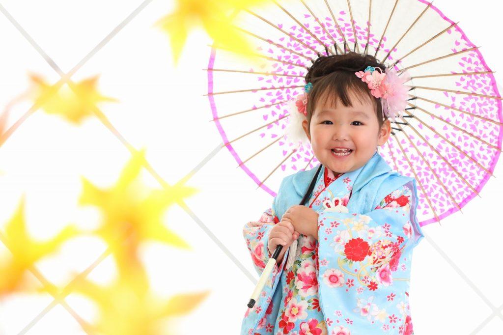 はじめての七五三記念写真 3歳の女の子