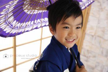 男の子の七五三記念写真