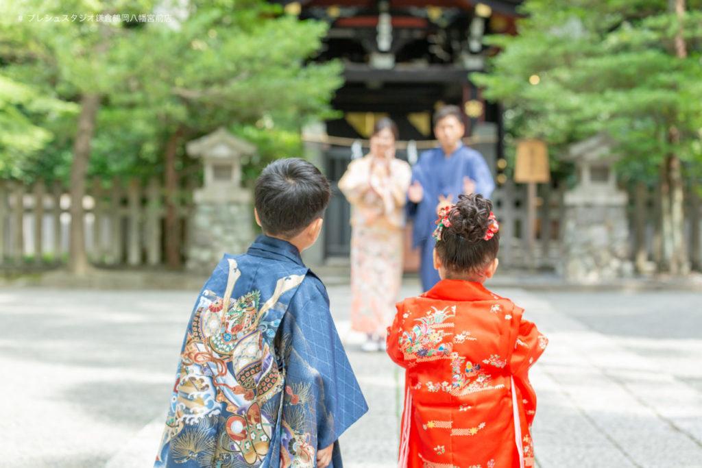 家族で神社に七五三のお参り