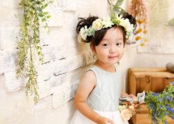 お花のヘアアレンジでバースデーフォト撮影