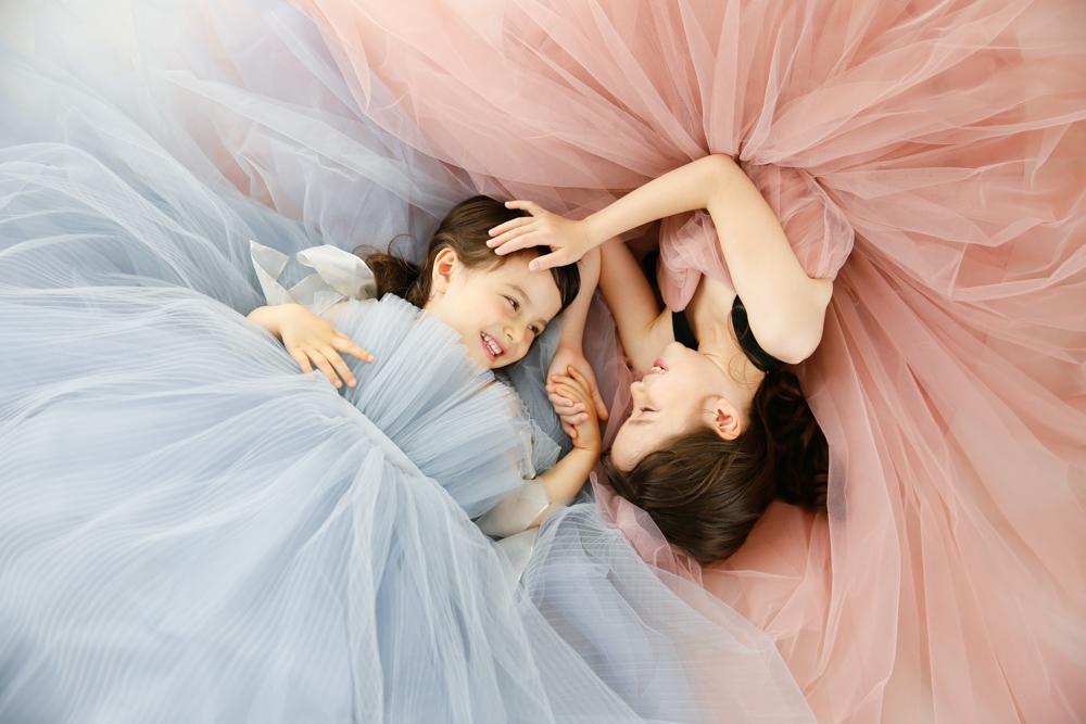 ドレス姿でお誕生日の記念写真撮影 プレシュスタジオ豊洲店撮影
