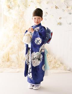 プレシュスタジオ七五三着物レンタル NATURAL BEAUTY BASIC 7歳和服