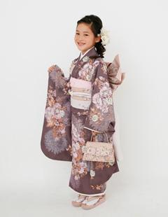 プレシュスタジオ七五三着物レンタル ジルスチュアート 7歳和服