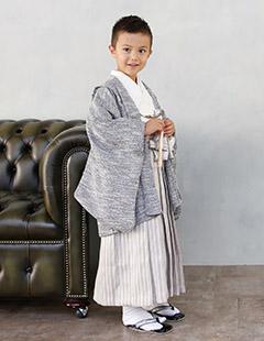 プレシュスタジオ七五三着物レンタル 5歳羽織袴