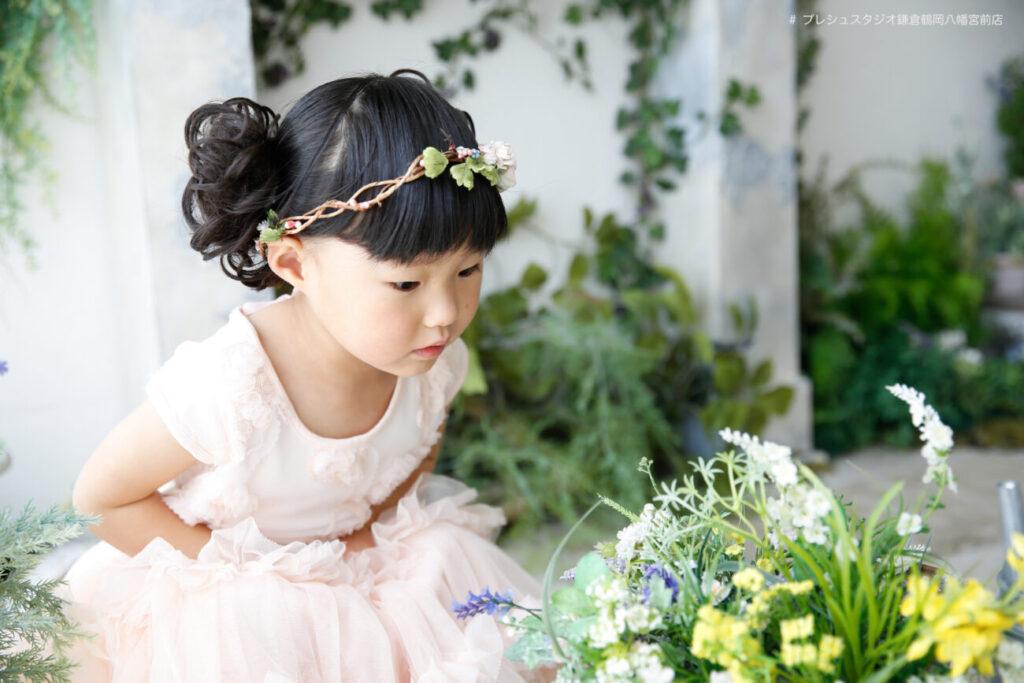 プリンセス風ドレスで七五三記念写真