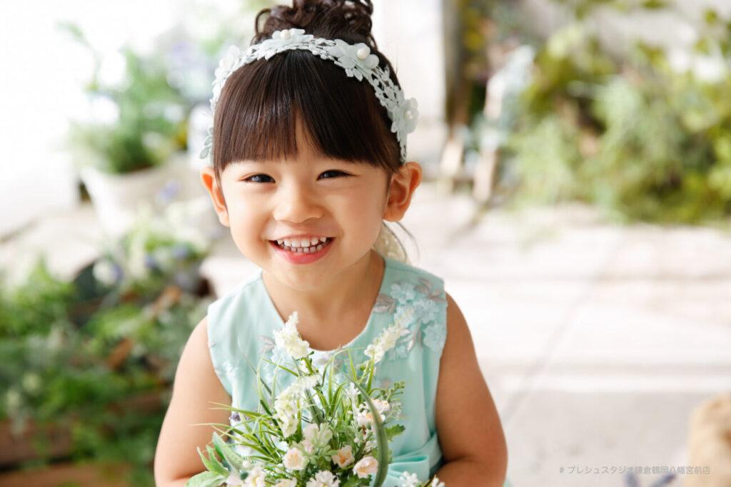 3歳の七五三洋装記念撮影