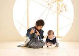 兄弟で七五三の記念写真撮影 羽織袴