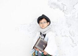 5歳の七五三記念写真撮影 羽織袴にハットで和装七五三