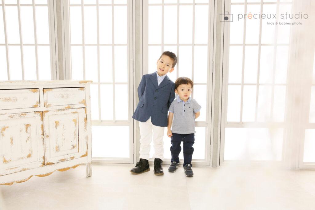 男の子の洋装七五三写真