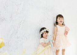 姉妹でドレス姿のお誕生日記念写真 バースデーフォト