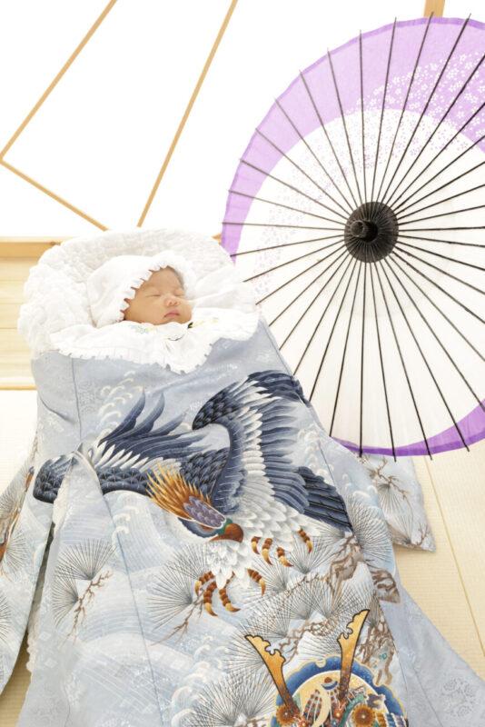 お宮参りの記念写真