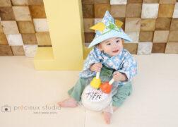 一升餅と1歳のお誕生日記念写真撮影