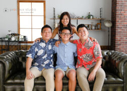 家族で成人式記念写真撮影