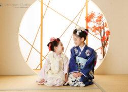 新日本髪で七五三の記念写真撮影