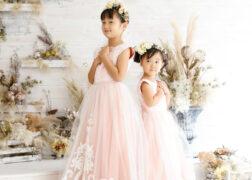 姉妹で七五三の記念写真撮影 ドレス