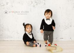双子ちゃんのお誕生日記念写真