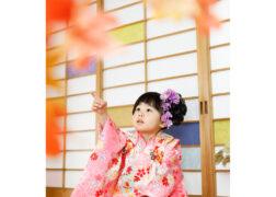3歳の七五三記念写真 和室で着物