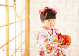 前髪あり日本髪でかわいい七五三記念写真撮影