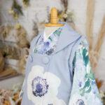 3歳用レンタル着物 被布 グレーブルー プレシュスタジオ鎌倉鶴岡八幡宮前店