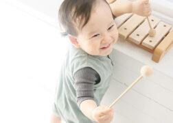 1歳のお誕生日の記念写真撮影